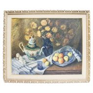 Oil on Canvas, Ming Teapot Still Life by Margaret Shotwell