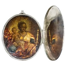 Russian Silver Diptych