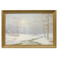 Oil on Canvas, Winter by Charles A. Watson (1857-1923),