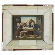 Miniature Painting of Rabbis Discussing Talmud