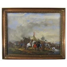 Miniature Painting of A Camp 19th century
