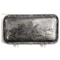 Russian Silver & Niello Cigar Box, 19th c.