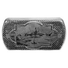 Russian Silver & Niello Cigarette Box, 19th c.
