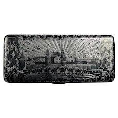 Russian Silver & Niello Box, 19th c.