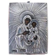 A Russian icon of Smolenskaya Mother of God