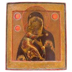 Russian Icon: Vladimirskaya Mother Of God