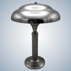 Stunning Art Deco chrome modernist machine age desk lamp from the 1930's