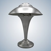 Fabulous French Art Deco table/desk UFO/Flying Saucer lamp from the 1930's