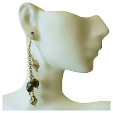 Vintage Silver and Gold Vermeil Nugget Earrings