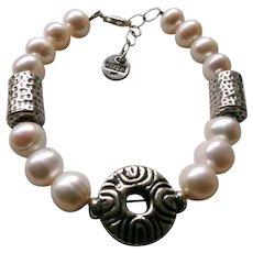 Artisan Pearl Sterling Silver Bracelet
