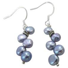Artisan Violet Cultured Pearl Earrings