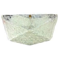 Mid Century Ice Glass Flush Mount Ceiling Light Anthroposophic Design