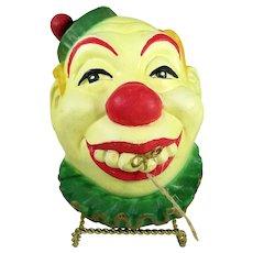 Clown Chalkware String Holder