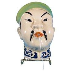 Chinaman ceramic String Holder