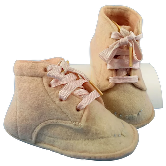 Vintage Felt Baby Shoes-Never Worn