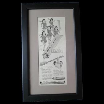 Vintage Advertising-Dionne Quints Framed
