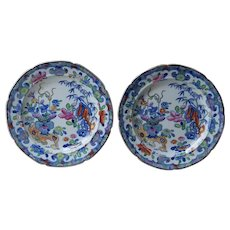 Early Mason's Ironstone Set of 2 Plates From 1815