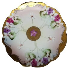 Early 20th Century Hand Painted Pickard Limoges Plate