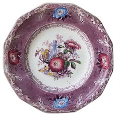 G. Wooliscroft Excelsior Ironstone Plate in Multi Colors