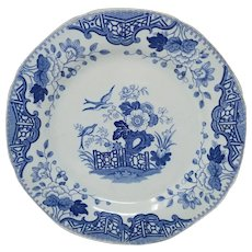 19th Century Blue and White Dish by Davenport