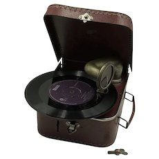 Phonograph in suitcase