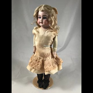 "Simon & Halbig 1260 ""Imperial""  Shoulderhead doll on Leather Body"