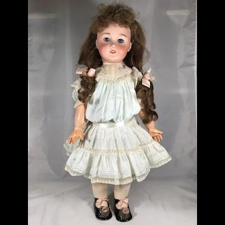 "24"" SFBJ Unmarked 301 Bisque Head doll on Wood and Compo Body"