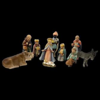 Hummel Goebel 11 Piece Large Nativity Set #214 (TMK #6 & TMK #7)