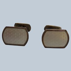 Aksel Holmsen Sterling and Guilloche Enamel Cuff Links