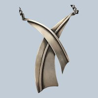 Sterling Necklace of Abstract Design