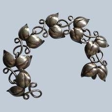 Swedish Sterling Bracelet Formed as Leaves