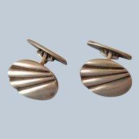 European Silver Cufflinks, Bold Design
