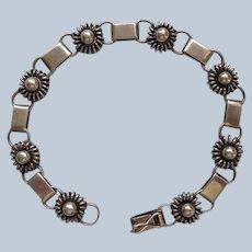 Danish Sterling Link Bracelet by Just Andersen