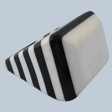 Mod Striped Lucite Ring