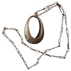 Polish Modernist Pendant and Chain