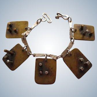 Mixed Metal Panel Bracelet