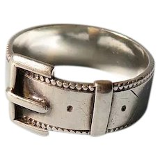 Victorian Sterling Silver Buckle Ring