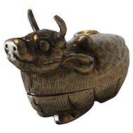 Cambodian Snuff / Betel nut Ox Box
