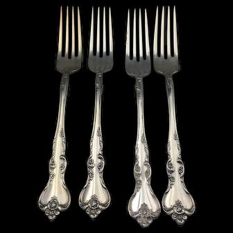"Reed & Barton ""Savannah"" Pattern Dinner Forks"