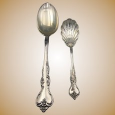 Two Sterling Silver Serving Spoons, Reed & Barton