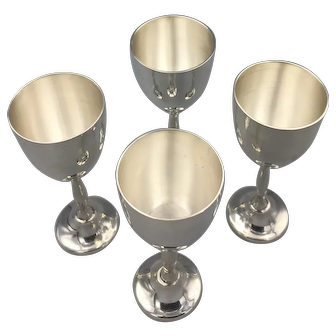Four Sterling Silver Cordials, Hallmarked