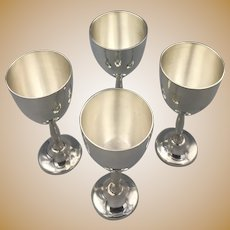 Sterling Silver Cordials, Hallmarked, hold about an ounce of liquid each