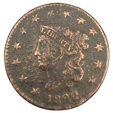 1822 Large Cent, Matron Head