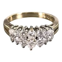 14K White and Yellow Gold Diamond Dinner Band/Ring