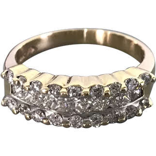 14 Karat Yellow Gold Fancy Diamond Ring $1695