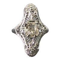 18K White Gold Art Deco Period Diamond Ring