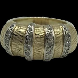 18 Karat Yellow Gold and Diamond Fashion Ring $2495