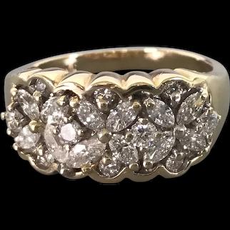 14K Yellow Gold and Diamond Ring $3295