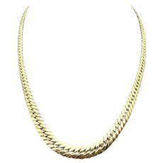 18K Yellow Gold Curb Link Uni-Sex Necklace