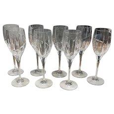 8  Crystal UPTOWN Wine Goblets